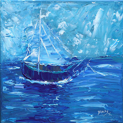 Painting - Nothing But Blue Sky by Donna Blackhall