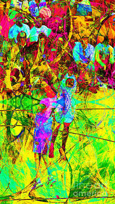 Lebron James Digital Art - Nothing But Net The Jump Shot 20150310 by Wingsdomain Art and Photography
