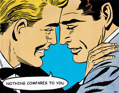 Gay Rights Wall Art - Painting - Nothing Compares To You by Bobby Zeik
