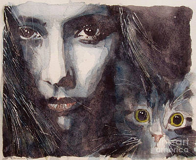 Cat Woman Painting - Nothing Compares To You  by Paul Lovering