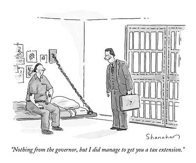Taxes Drawing - Nothing From The Governor by Danny Shanahan