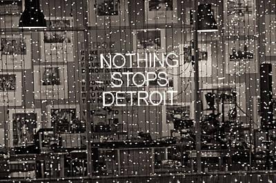Nothing Stops Detroit  Art Print