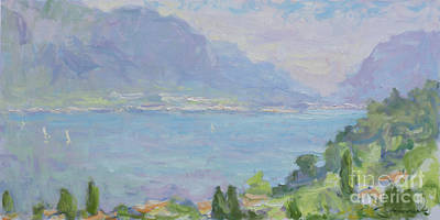 Lake Como Painting - Nothing To Do  by Jerry Fresia