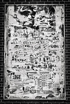 Espana Photograph - Notice Board by Rod McLean