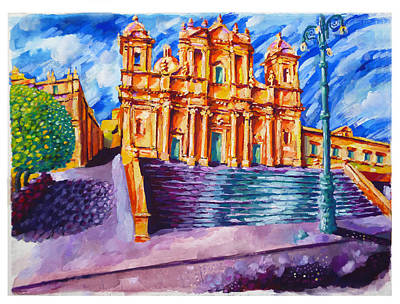 Noto Cathedral Sicily Original by Patrick O'Callaghan