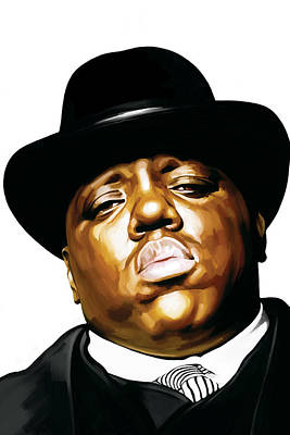 Rap Painting - Notorious Big - Biggie Smalls Artwork 2 by Sheraz A