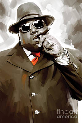 Big Mixed Media - Notorious Big - Biggie Smalls Artwork 3 by Sheraz A