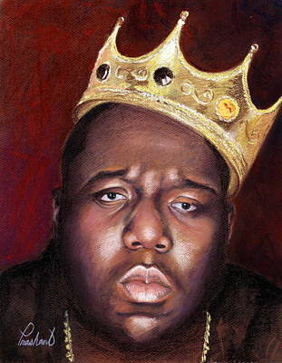 Painting - Notorious Big Portrait - Biggie Smalls - Bad Boy - Rap - Hip Hop - Music by Prashant Shah