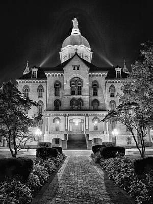 Photograph - Notre Dame Administration Building by Dennis James