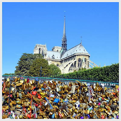 Photograph - Notre Dame And Locks Of Love by Carla Parris