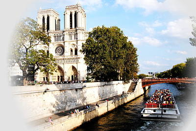 Photograph - Notre Dame And The Seine Vignette by Jacqueline M Lewis