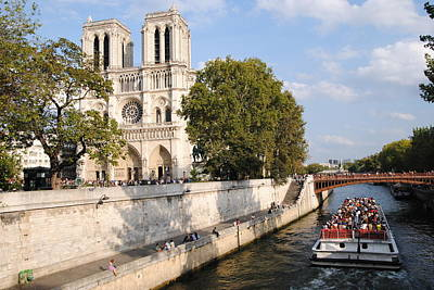 Photograph - Notre Dame And The Siene by Jacqueline M Lewis