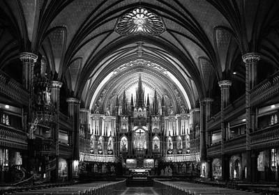 Church Architecture Photograph - Notre-dame Basilica Of Montreal by C.s. Tjandra