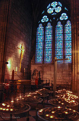 Notre Dame Candles Art Print
