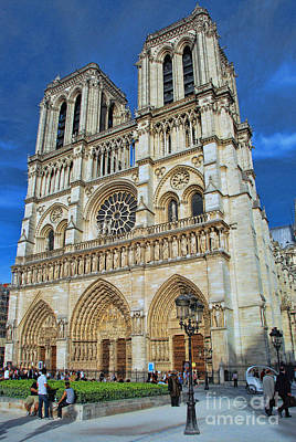 Photograph - Notre Dame Cathedral by Allen Beatty