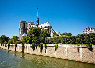 Photograph - Notre Dame Cathedral And The Seine by Anthony Doudt