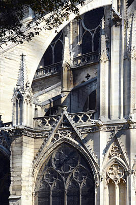 Photograph - Notre Dame Cathedral Architectural Details by Carla Parris