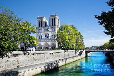 European Photograph - Notre Dame Cathedral Paris France by Michal Bednarek