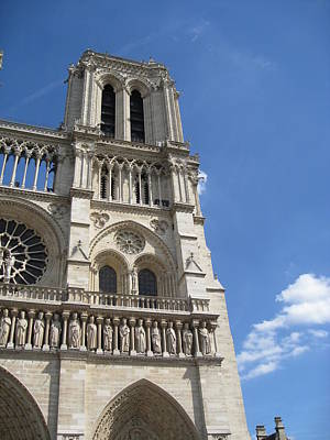 Notre Dame Cathedral Paris Tower Art Print by Stephanie Hunter