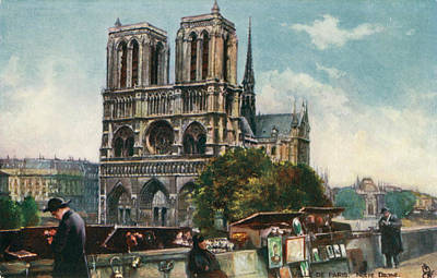 Notre Dame Drawing - Notre Dame Cathedral, Paris - Viewed by Mary Evans Picture Library