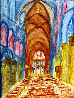 Painting - Notre-dame Cathedral by Stanley Morganstein