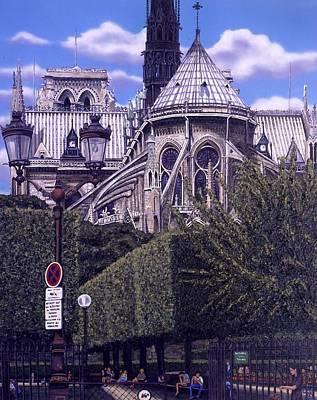 Notre Dame Original by Cynthia Wolsfeld