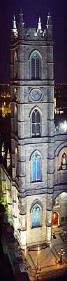 Montreal Places Photograph - Notre Dame De Montreal At Night by Panoramic Images