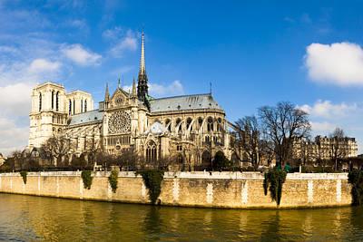 Photograph - Notre Dame De Paris And The River Seine by Mark E Tisdale