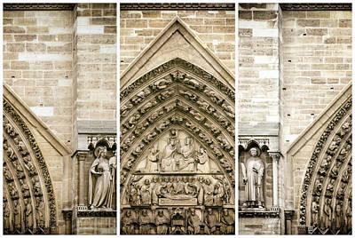 Photograph - Notre Dame De Paris Architecture by Georgia Fowler