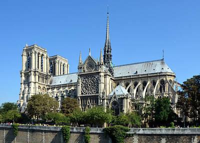 Photograph - Notre Dame De Paris Gothic Cathedral  by Carla Parris