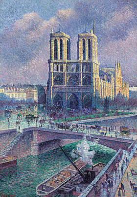 Luce Painting - Notre-dame De Paris by Maximilien Luce