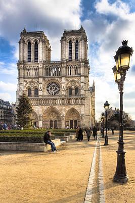 Notre Dame De Paris Reaching For The Sky Art Print by Mark E Tisdale