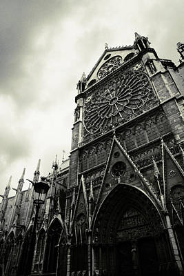 Dark Photograph - Notre Dame De Paris by Cambion Art