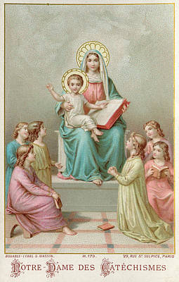 Notre Dame Drawing - Notre-dame Des Catechismes (our Lady by Mary Evans Picture Library