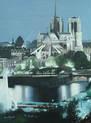 Painting - Notre Dame  by Diane Romanello