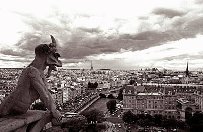 Kathy Yates Photograph - Notre Dame Gargoyle by Kathy Yates
