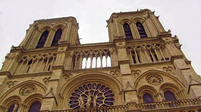 Europe Digital Art - Notre Dame by Jenny Armitage
