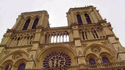 Notre Dame Digital Art - Notre Dame by Jenny Armitage