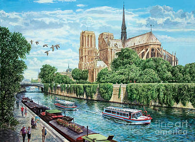 Notre Dame Art Print by MGL Meiklejohn Graphics Licensing