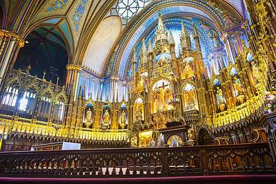 Que Photograph - Notre Dame Montreal by Robert Davis