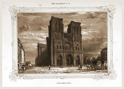 Notre Dame Drawing - Notre Dame, Paris And Surroundings, Daguerreotype by Litz Collection