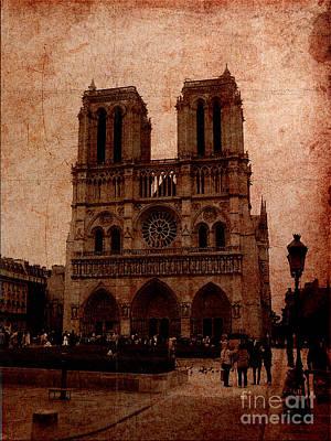 Digital Art - Notre Dame - Paris by Soumya Bouchachi