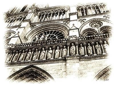 Notre Dame Pencil Art Print