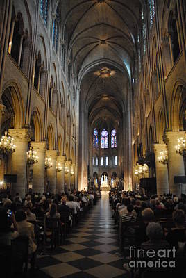 Photograph - Notre Dame Paris Performance And Long View by Jacqueline M Lewis