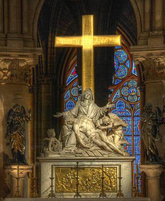 Photograph - Notre Dame Pieta by Michael Kirk