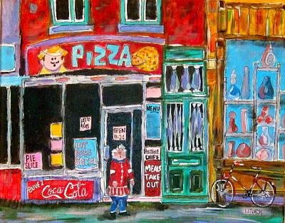 Litvack Painting - Notre Dame Pizza by Michael Litvack
