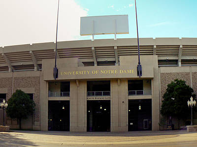 Photograph - Notre Dame Stadium by Connie Dye