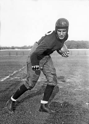 Football Photograph - Notre Dame Star Halfback by Underwood Archives