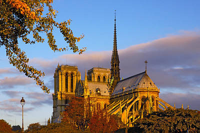 Photograph - Notre Dame Sunrise by Mick Burkey