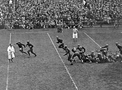Football Stadium Photograph - Notre Dame Versus Army Game by Underwood Archives
